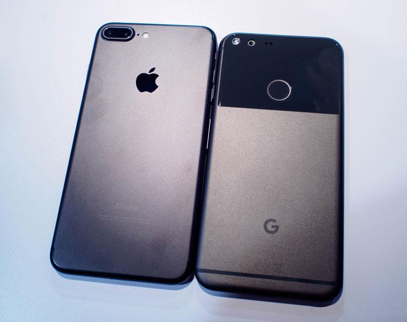 Сравнение iPhone 7 Plus и Google Pixel XL