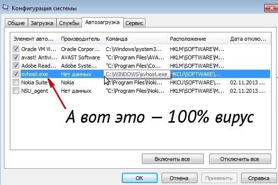 svchost.exe грузит сильно процессор Windows 7