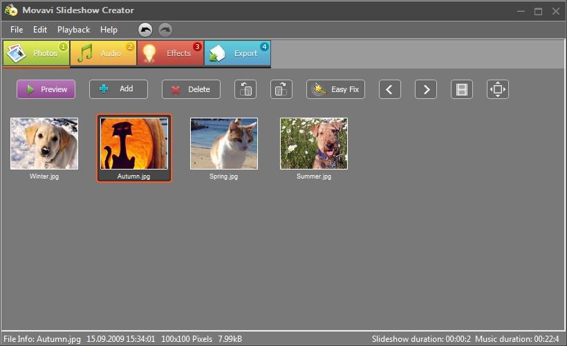 Как сделать бесплатно слайдшоу из фотографий