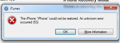 Ошибки iPhone и iTunes